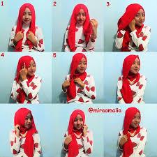 tutorial memakai jilbab paris yang simple cara memakai jilbab paris modis dan anggun tetep cantik
