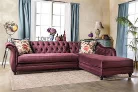 Fabric Sectional Sofas Modern Plum Fabric Sectional Sofa