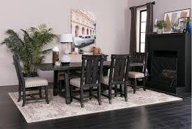 jaxon 6 piece rectangle dining set w bench u0026 wood chairs living