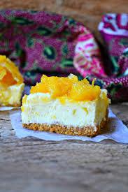 orange and white chocolate no bake cheese cake