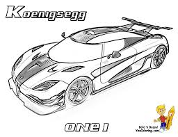 full force race car coloring koenigsegg one1 httpwww at exotic