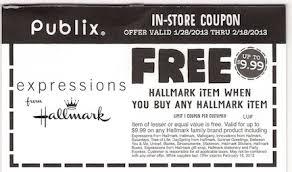 publix coupon bogo hallmark items