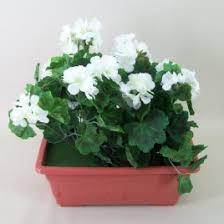 geraniums silk flowers