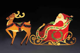 Christmas Lights Santa Sleigh Chritmas Train Outdoor Figures DMA