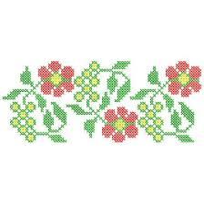 floral cross stitch border 58mm x 142mm b1 m 210906 a ponto