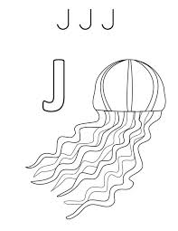 j jellyfish coloring page download u0026 print online coloring pages