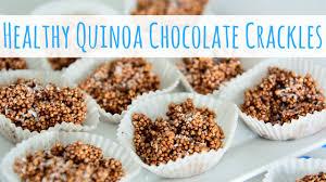 healthy puffed quinoa chocolate crackles rice crispy treats