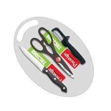 prestige kitchen knives buy prestige kitchen knives 3 pcs knife set with cutting board at