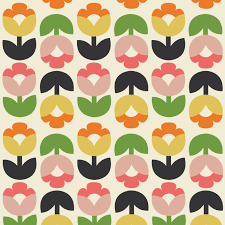 retro wrapping paper tulip bloom wrapping paper 5 sheets rex london dotcomgiftshop