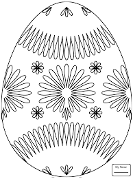 easter egg with octagram star arts culture coloring pages for kids
