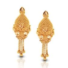 new fashion gold earrings 201 22 kt yellow gold earrings designs buy 22 kt yellow gold