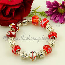 beads charm bracelet images Charms bracelets with lampwork glass large hole beads wholesale jpg