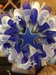 dallas cowboy ribbon dallas cowboys wreath theblingyblonde