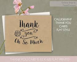 thank you cards kraft paper thank you cards card templates creative market