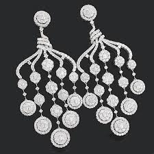 diamond chandelier designer diamond chandelier earrings 15 88ct 18k gold