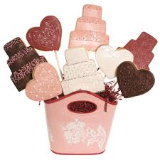 cookie bouquet burgundy and pink wedding cookie bouquet cookie decorating