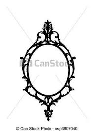 vintage hand mirror clipart collection