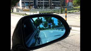 car door mirror glass bluish tinted safety side mirror youtube