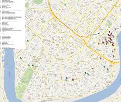 Map New Orleans Tulane University Accommodations Map
