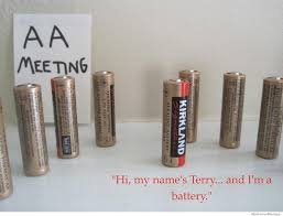 Battery Meme - hi my name is terry and im a battery weknowmemes