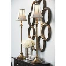 with a turned gilt metal base our dominique buffet lamp is