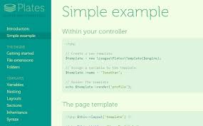 plates is a native php template system that u0027s fast easy to use