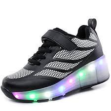 heelys light up shoes amazon com bosidi led heelys light up single wheels roller skates