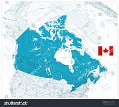 road map canada detailed road map canada cities stock vector 718810486