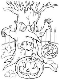 free coloring book pages happy halloween blue star