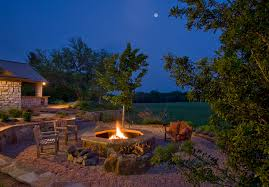 Gravel Backyard Ideas Pea Gravel Landscape Traditional With Gravel Fire Pit