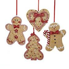 gingerbread tree and ornament set of 4