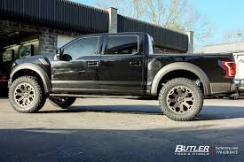 Ford Raptor Truck Black - ford raptor with 22in black rhino warlord wheels exclusively from