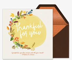 thanksgiving thank you free invitations