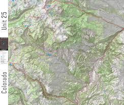 Colorado Hunting Unit Map by Game Planner Maps Hunting Maps Hunting Gps Elk Mule Deer