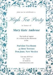 party invitation tea party invitation templates canva tea party invitations mes
