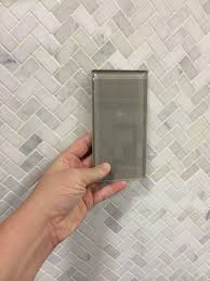 Herringbone Bathroom Floor by Pure Wool Shiny Glass Tile 3 99 For The Shower Wall U0026 Carrera