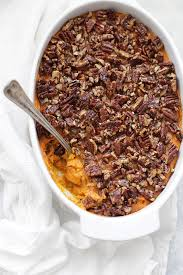 paleo or vegan sweet potato casserole one lovely