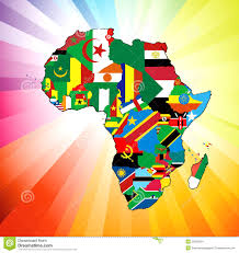 African Continent Map African Continent Flag Map Stock Images Image 23036564