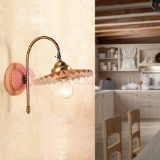 applique in cotto applique spot mural incliné terre cuite oule à vis ceramiche borso