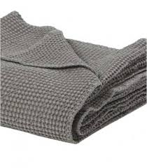 plaid coton pour canapé jeté de canapé couvre lit 100 coton lavé gris 240 x 260 cm plaid