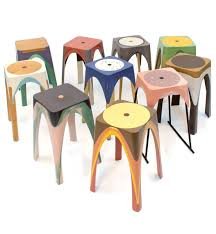 resin stools created with the help of motion design milk