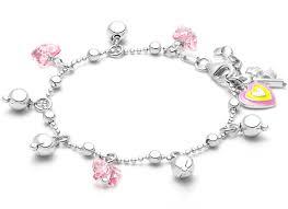 butterfly drops charm bracelet for