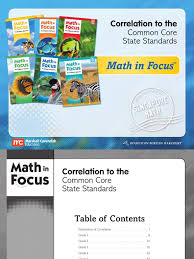 math in focus 2013 correlation document common core state