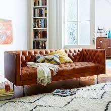 Modern Leather Sofa Contemporary Sofas And Loveseats West Elm