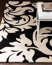 Damask Area Rug Black And White 49 Best Rugs Images On Pinterest Black White Rug Black And