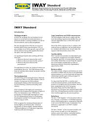 ikea code of conduct iway personal protective equipment