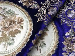Luxury Velvet Upholstery Fabric Aliexpress Com Buy Luxurious Traditional All Over Embroidery