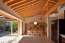japanese home interiors timber framed japanese house built around gardens
