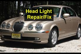 jaguar headlights to low adjustment repair for s type youtube
