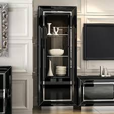 Corner Display Cabinet With Glass Doors Black Display Cabinet With Glass Doors 18 With Black Display